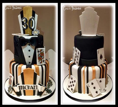 Great Gatsby Inspired Casino Cake by gertygetsgangster