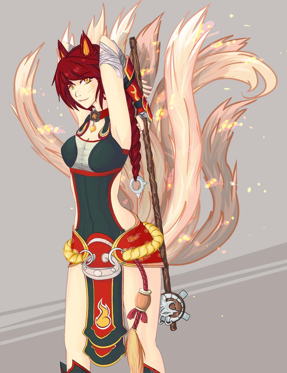 Foxfire Ahri by Shazaca