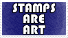 Stamps are art. by NicolasSarkozy