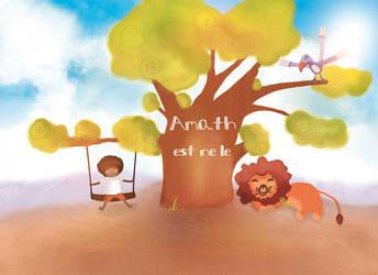 Faire-part de naissance Amath