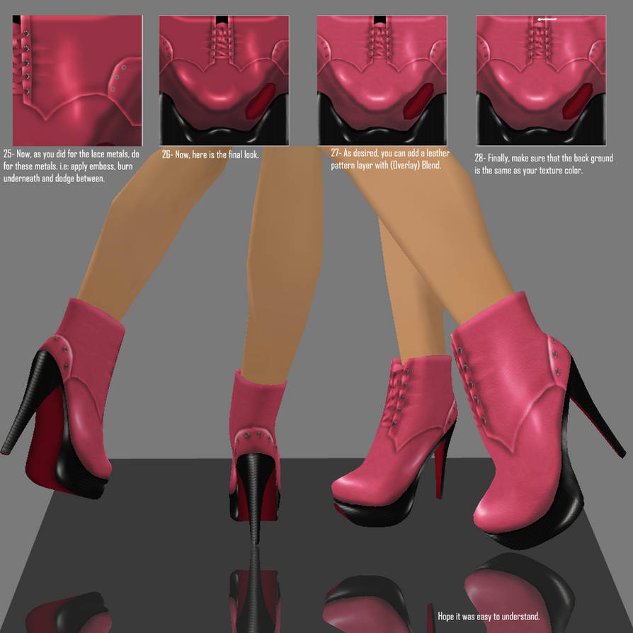 Boots tutorial for IMVU by P-H-A-R-M-A-C-I-S-T on DeviantArt