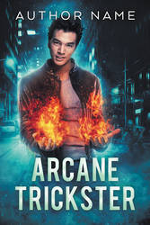 Arcane Trickster - premade book cover - SOLD