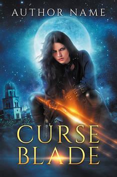 Curse Blade - premade book cover - SOLD