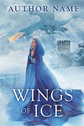 Wings of Ice - premade book cover