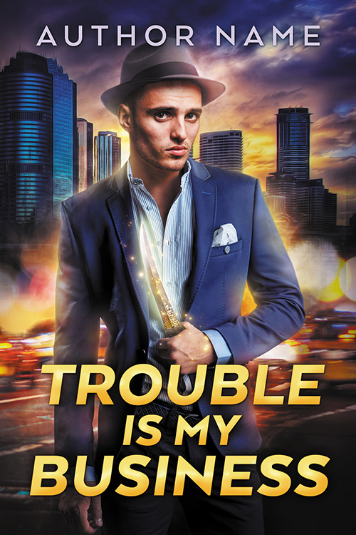 Trouble is My Business - premade book cover by LHarper
