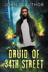 Druid of 34th Street - premade book cover