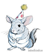Chinchilla at a Party by bensigas