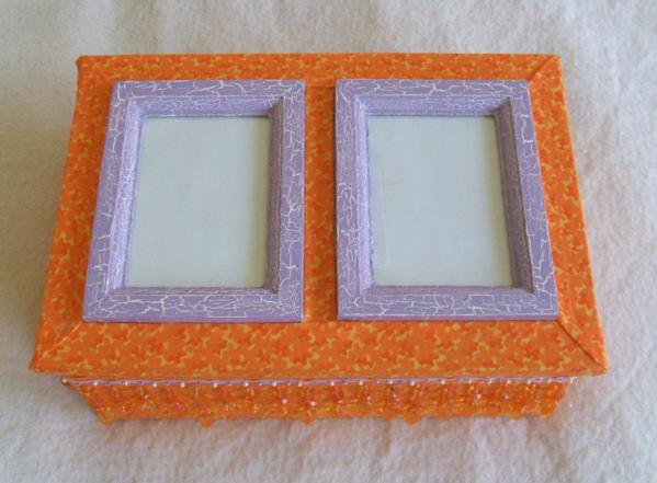 Box--orange and lavender by Vivienne-Mercier