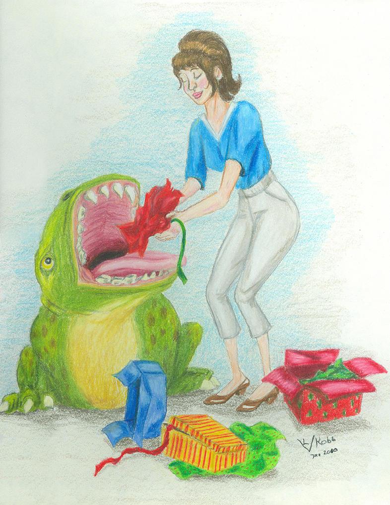 Christmas Wrap Disposal by Vivienne-Mercier