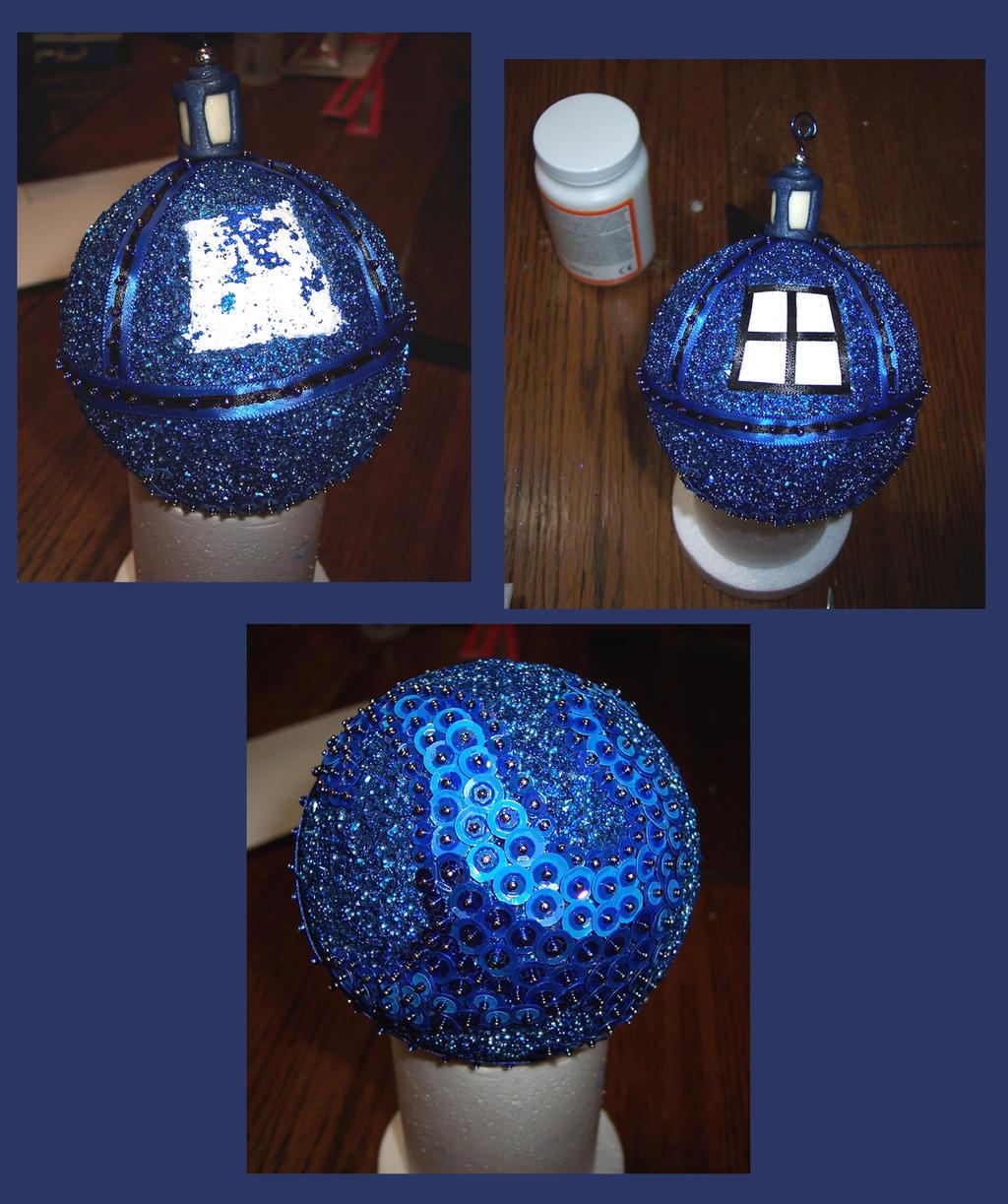 How to Make a Tardis Christmas Ornament pt. 4 by Vivienne-Mercier ...