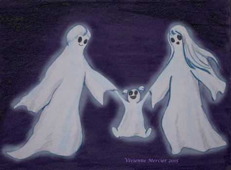 Happy ghost family