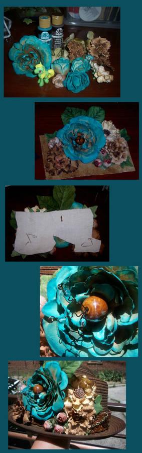 Steampunk Hat WIP flowers