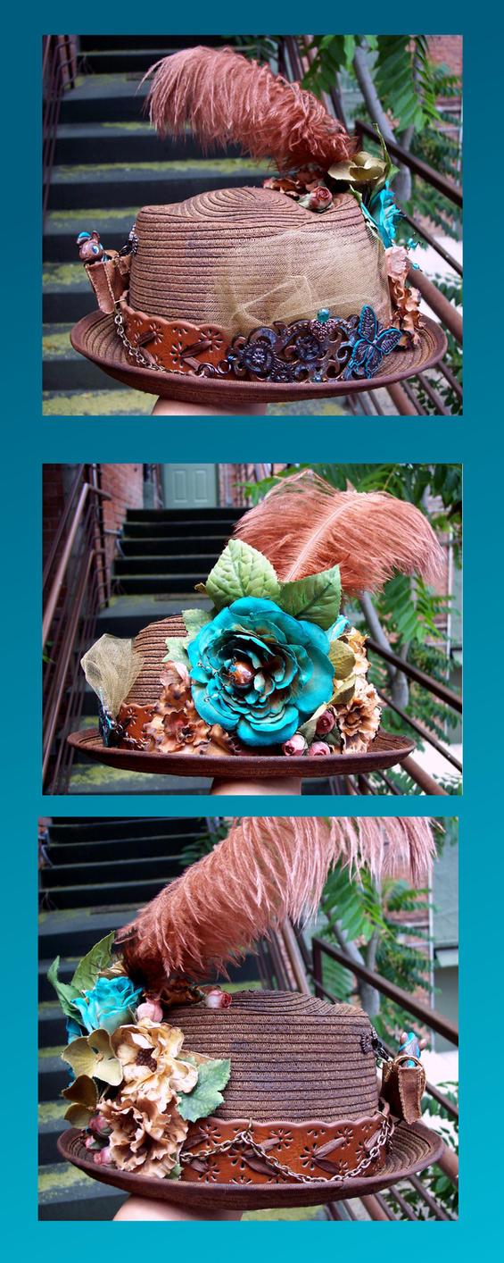 Steampunk hat final by Vivienne-Mercier