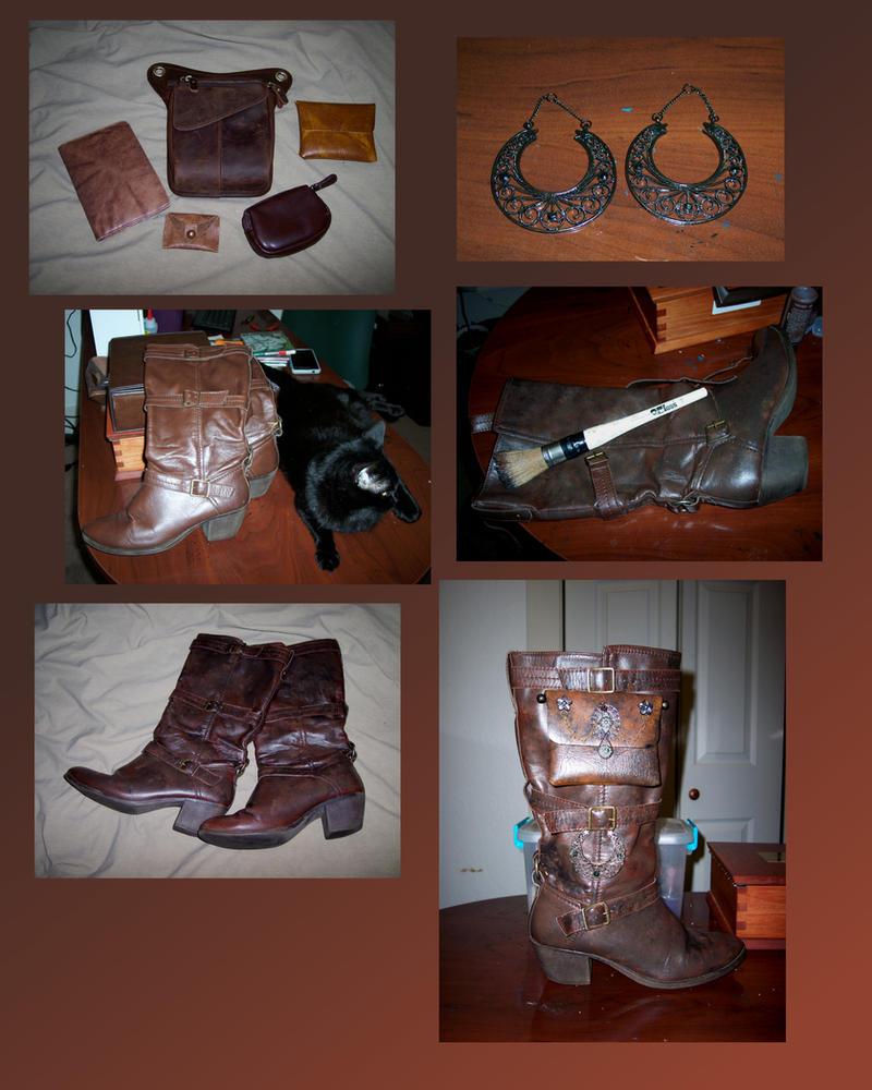 Steampunk Boots by Vivienne-Mercier
