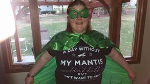Praying mantis outfit I got by Prayingmantislover28