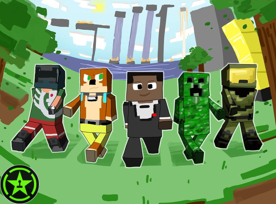 Achievement Hunter-Minecraft by EllaMRed