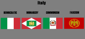 Ideological Flags Italy