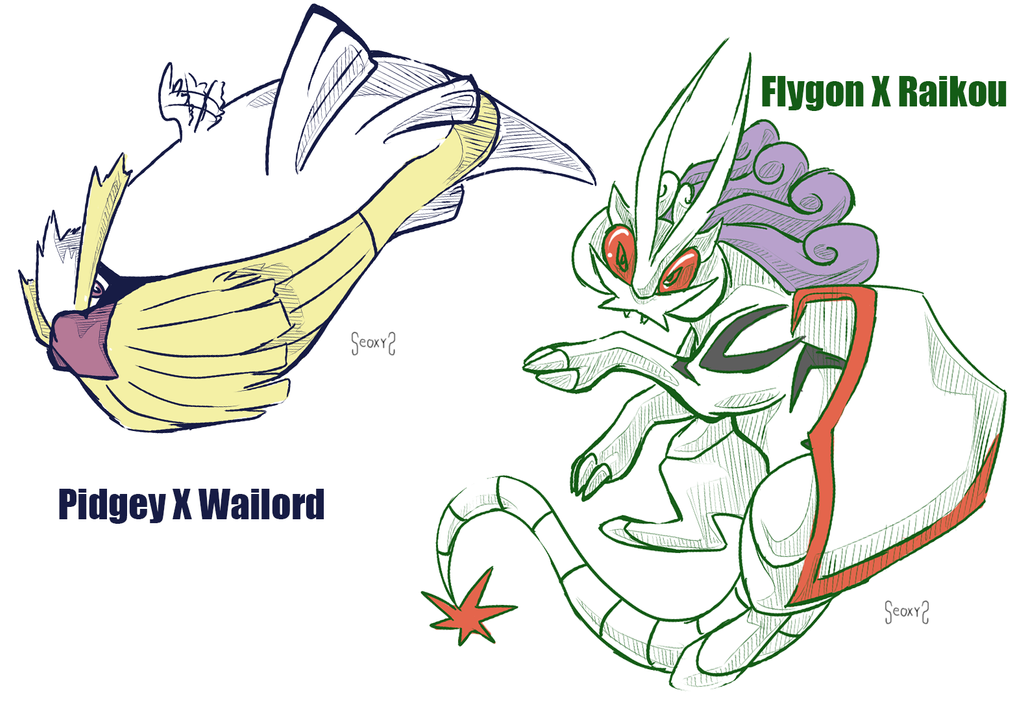 Pidgey x wailord and flygon x raikou by seoxys6 on deviantart - Wailord pokemon x ...