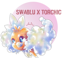 Swablu X Torchic by Seoxys6