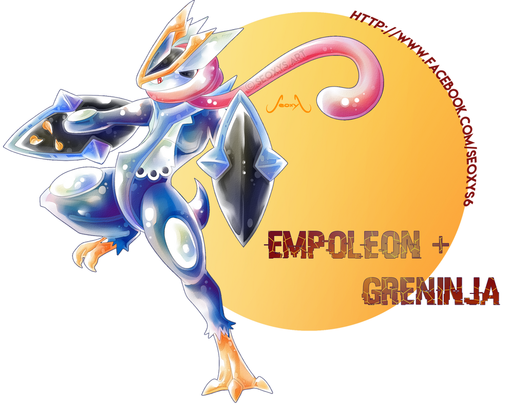 empoleon x greninja by seoxys6 on deviantart
