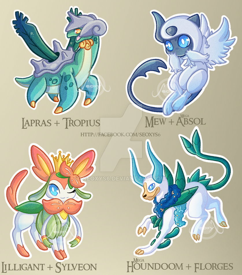 Adopt pokemon fusions by request mix closed by seoxys6 - Cute pokemon fusions ...