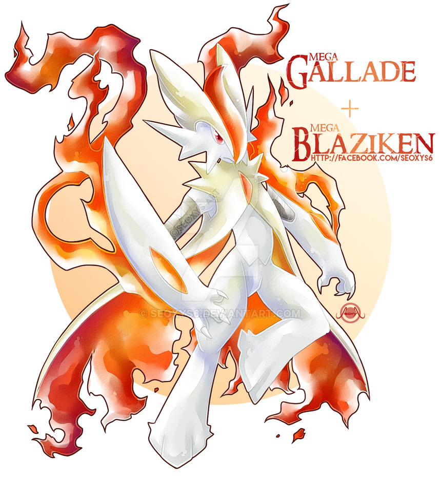 Mega Gallade X Mega Blaziken By Seoxys6 On Deviantart