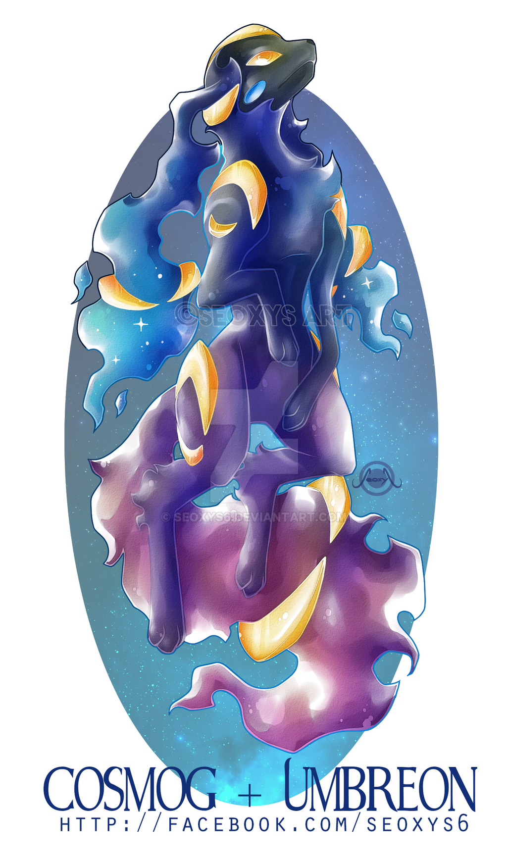 Cosmog X Umbreon by Seoxys6
