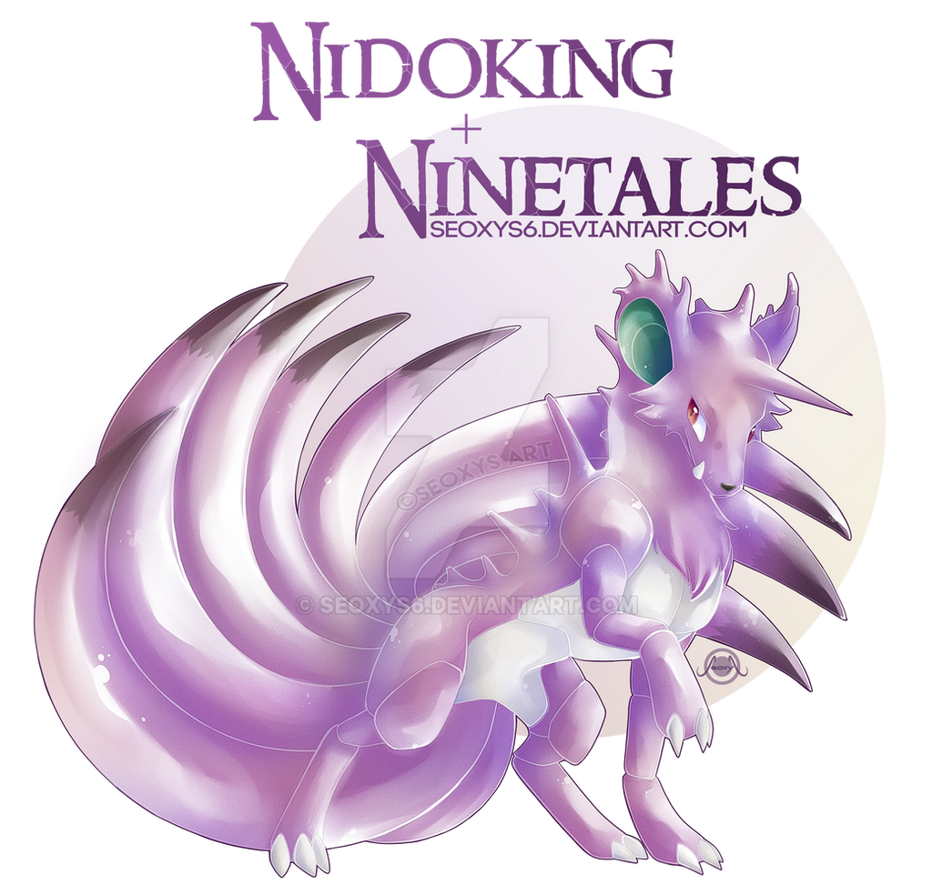 Nidoking X Ninetales [With Speed Paint] by Seoxys6