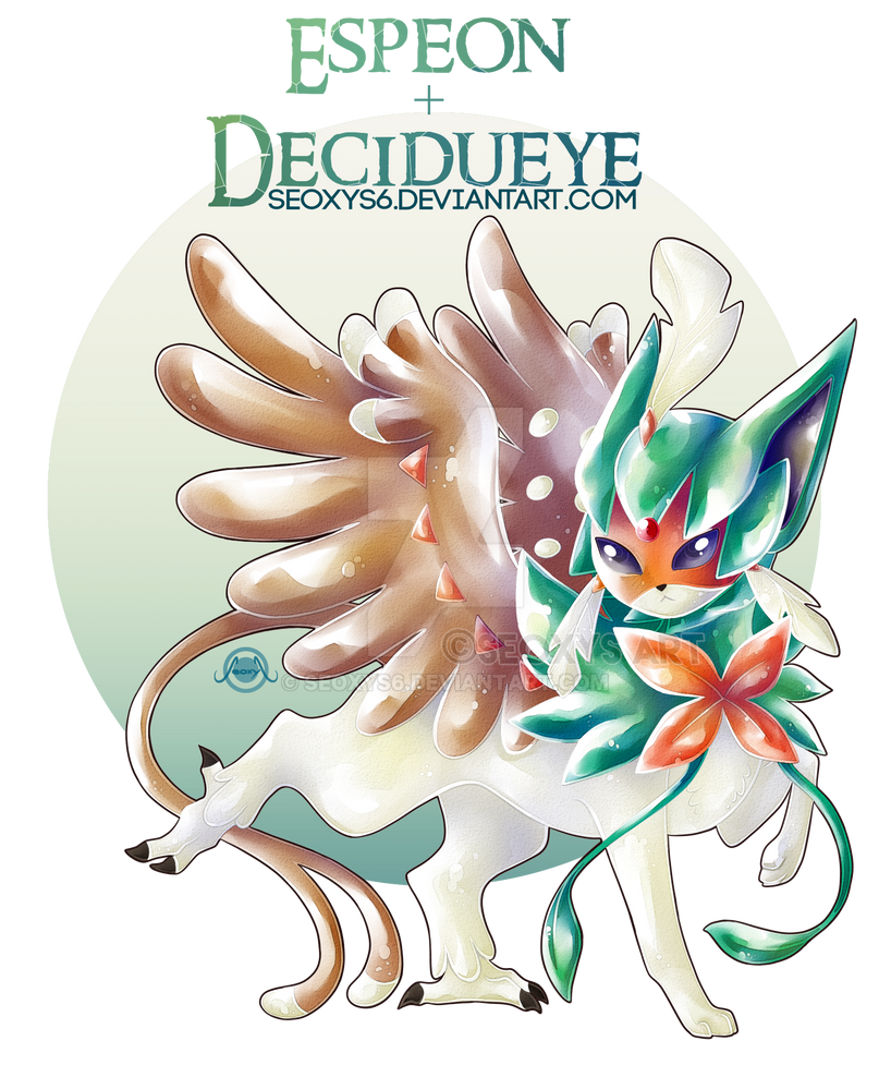 Espeon + Decidueye [Speed Paint] by Seoxys6