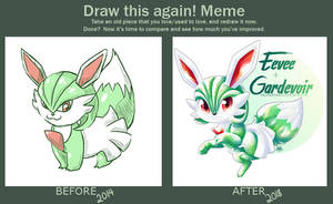 Draw this Again - Eevee x Gardevoir by Seoxys6