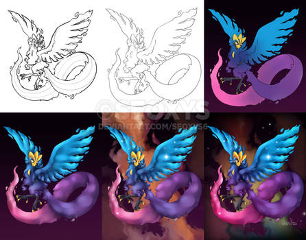 Articuno x Cosmog - Step by Step