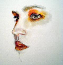 Watercolour portrait by Ellie-J