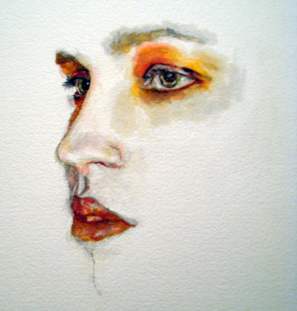 Watercolour portrait by Ellie-J