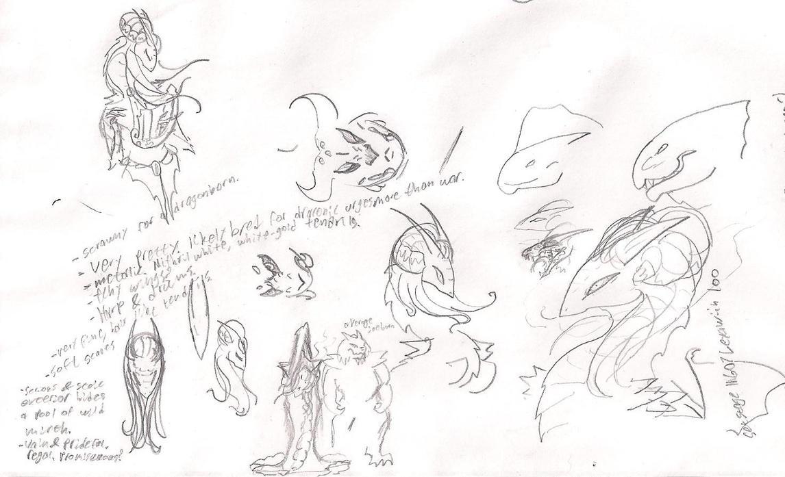 Dragonborn Bard concept by Jesus-lizard