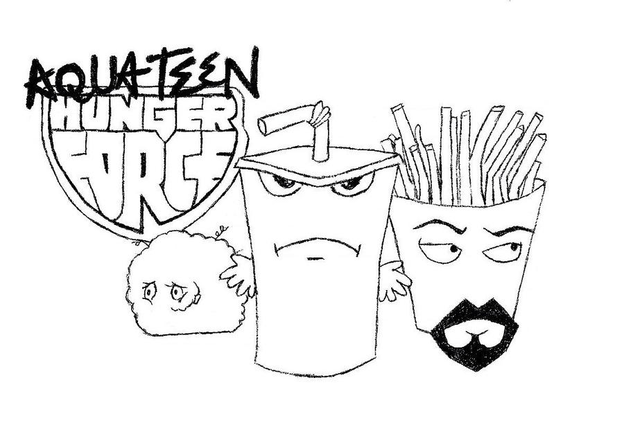 aqua teen hungerforce coloring pages - photo#1