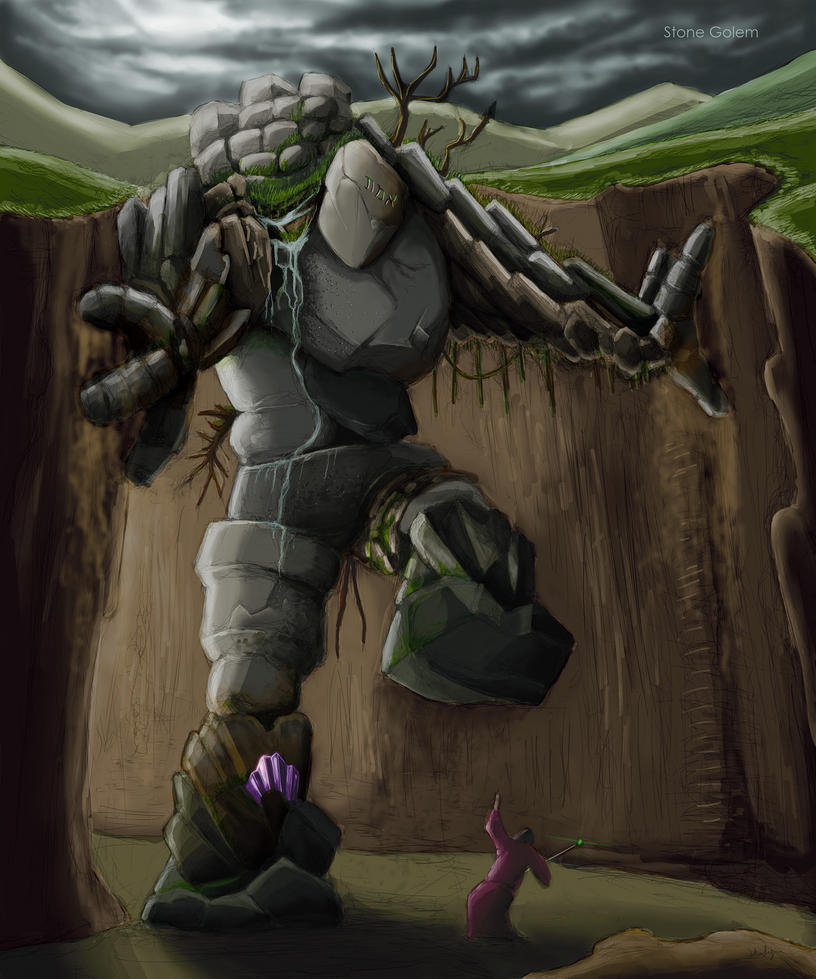 STONE GOLEM 001 by Shafiqur