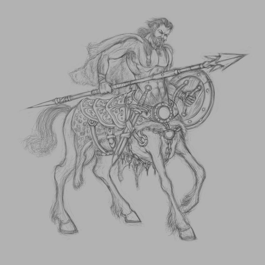 BARBARIAN CENTAUR WIP by Shafiqur