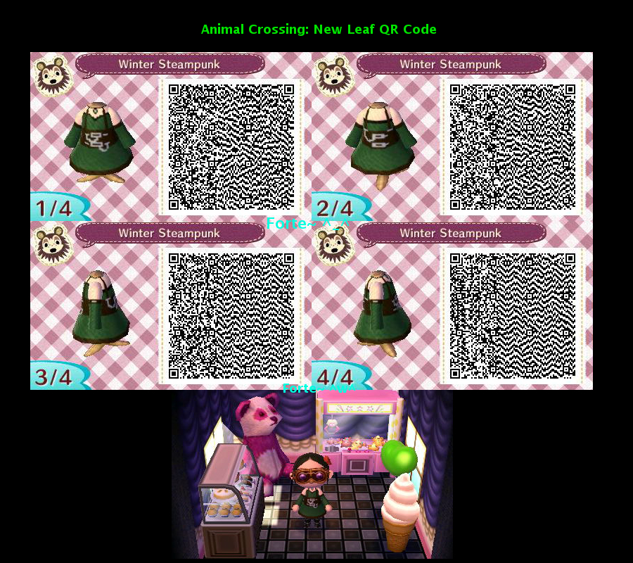 Famoso QR Code: Winter Steampunk|Animal Crossing New Leaf by  LE77
