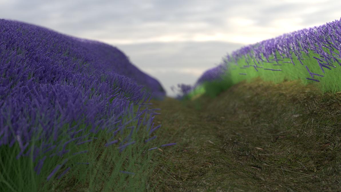 Purple Flowers by hullalmiah