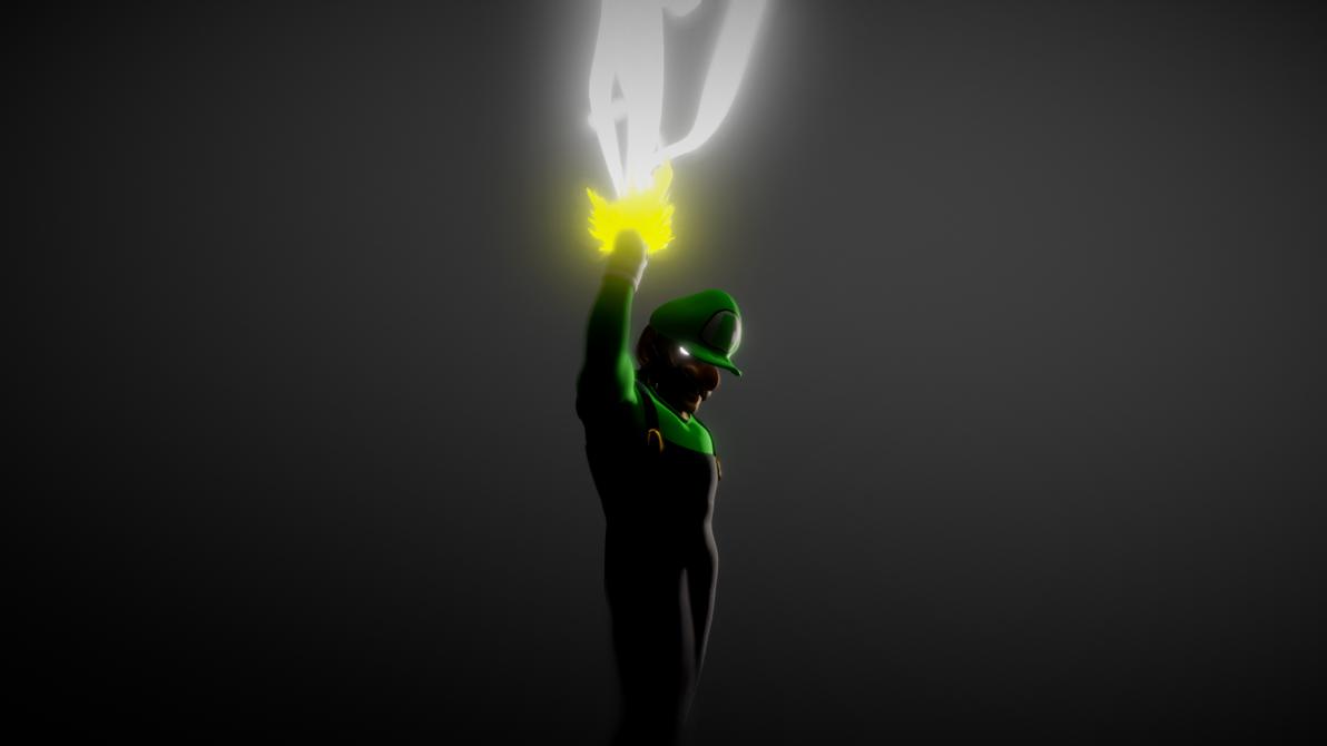 Luigi One Jump Man (One Punch Man Parody) FanArt by hullalmiah