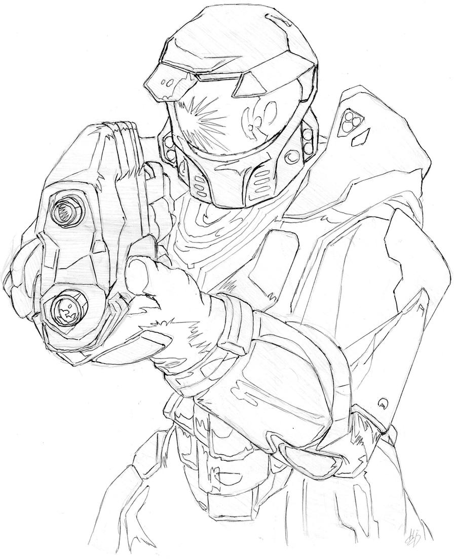 Halo Combat Evolved Coloring Coloring Pages
