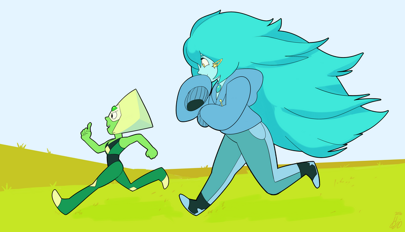 Art Quest 02 feat Peridot and Turquoise by DemonDice