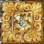 Ornate Gold Tile w Shell Mosaic 2