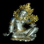 Silver Gold Tara statue
