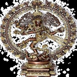 Indian Nataraja statue by LilipilySpirit
