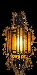 Amber Fiesta Moroccan Lamp by LilipilySpirit