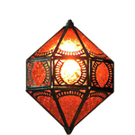 Red Itri Moroccan Lamp