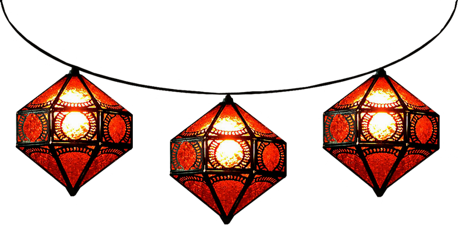 Strung Red Itri Moroccan Lamps By LilipilySpirit On DeviantArt