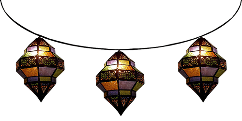 Strung Trombia Moroccan Lamps