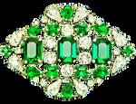 Art Deco Emerald and Diamond Brooch